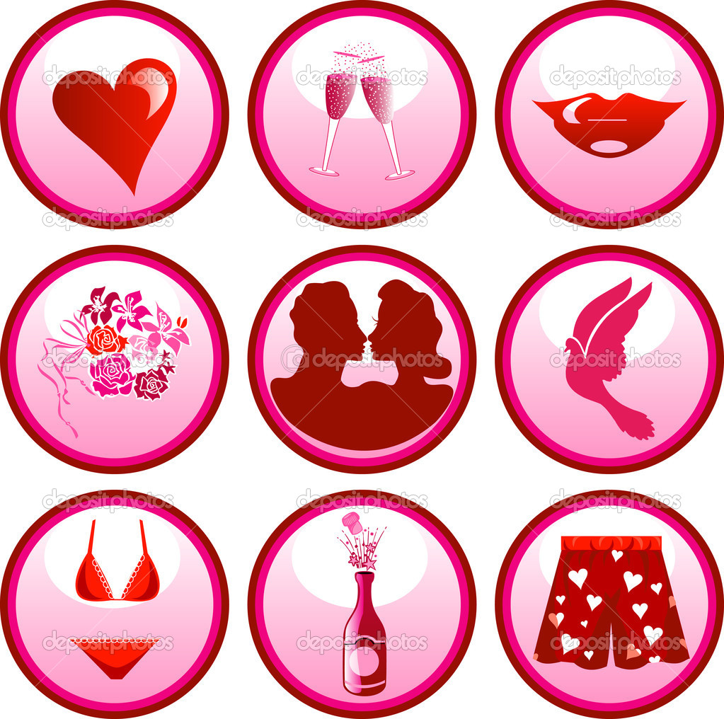 Love Icon Buttons
