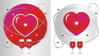 Red Glass & Heart
