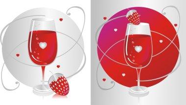 Red Glass & Strawberry