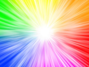 Rainbow abstract background explosion