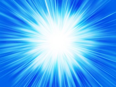 Blue abstract background star explosion