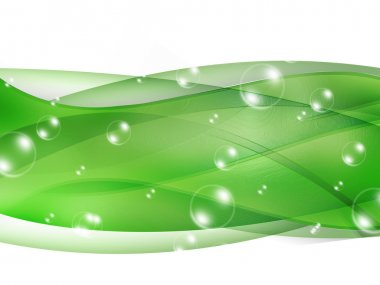 Bubble Green Abstract background