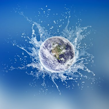 Earth dropped in water
