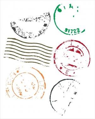 Blank postmarks frames - vector