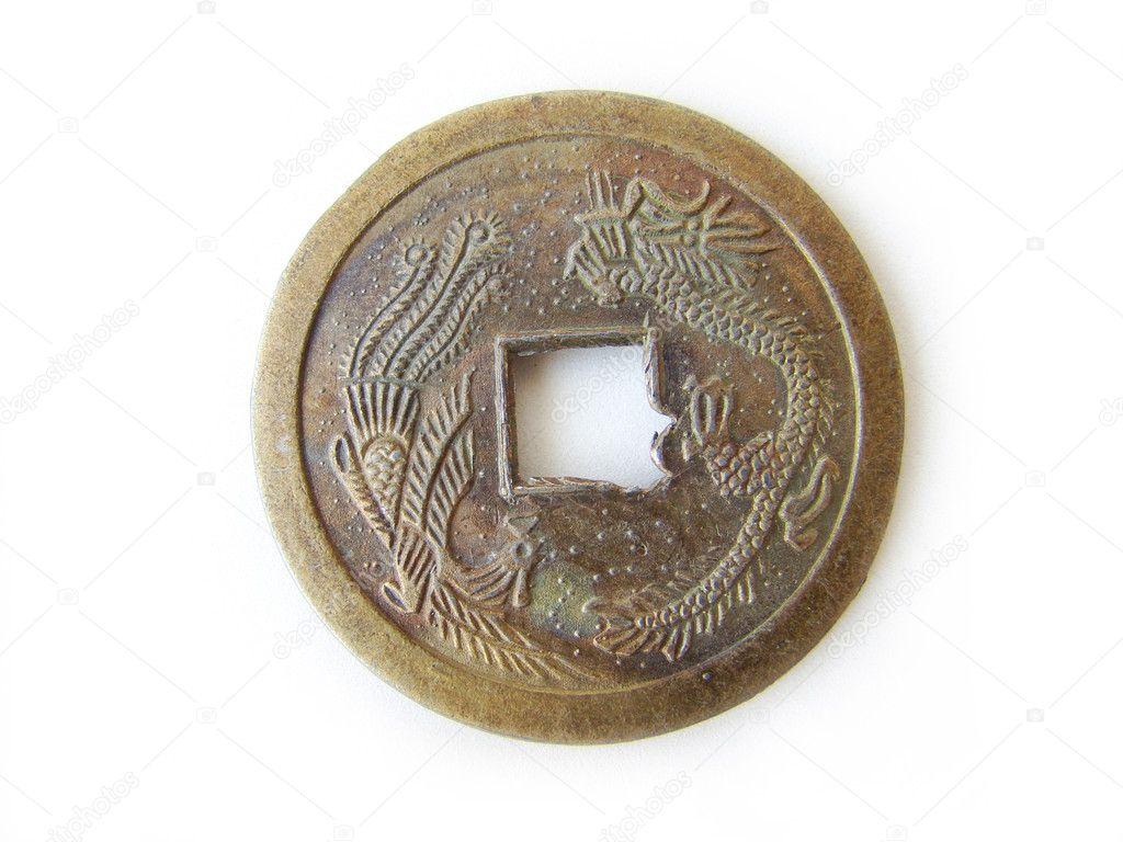 Chinesische Feng Shui Münze Stockfoto Flaps 2627365