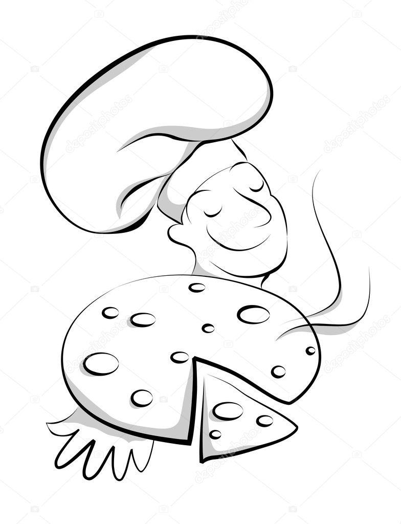 vector illustration of chef with pizza u2014 stock vector illustrart