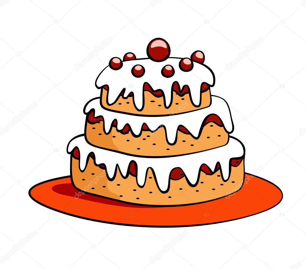 Cartoon Cake Stock Vector 169 Flowerstock 2648722