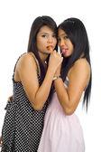 Fotografie Junge asiatische Frauen mit Lutscher
