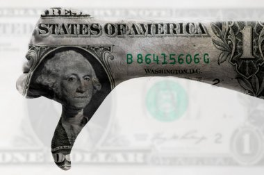 Thumb down us dollar