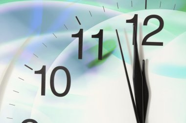 Close-up of Clock Counting Down