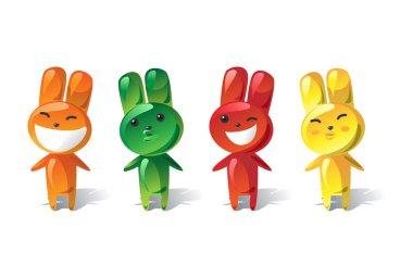Jelly rabbit set