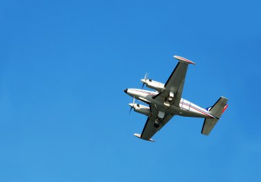 Plane over blue sky
