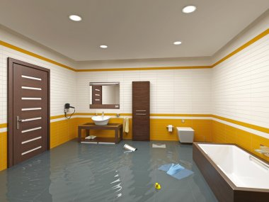 Flooding bathroom