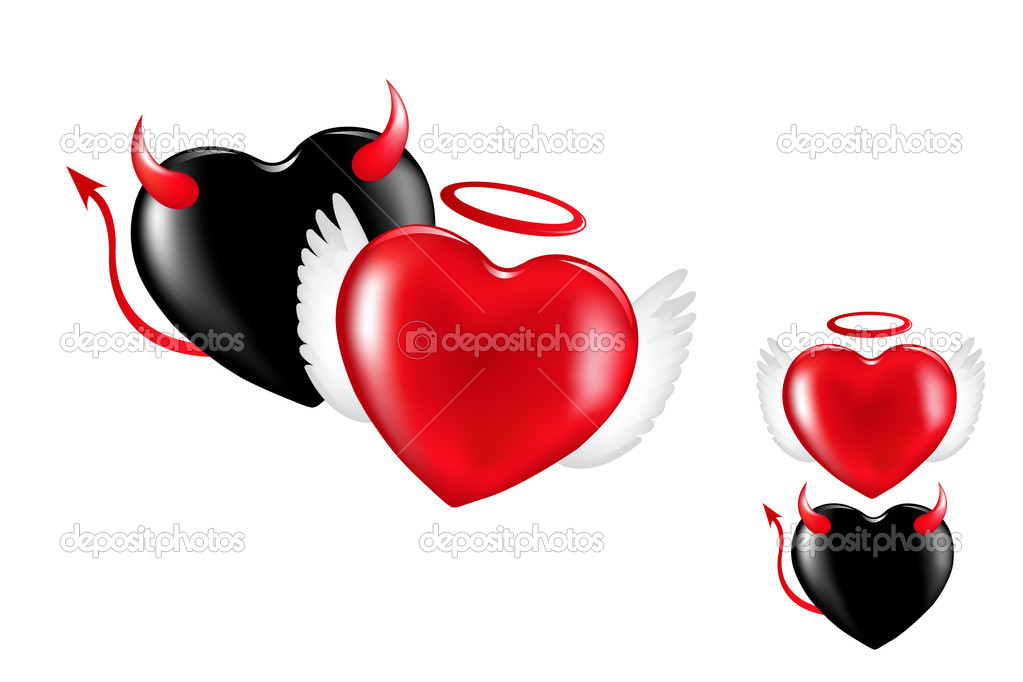 Angel And Demon Hearts