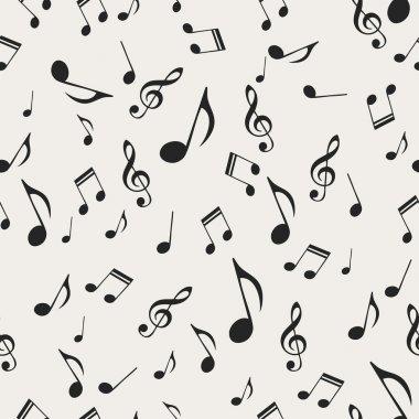 Musical notes - seamless stock vector