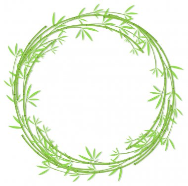 Round woven bamboo frame