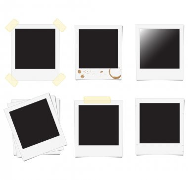 Set of polaroid frame