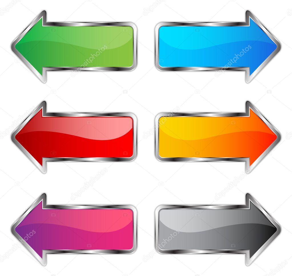 Arrow chrome button