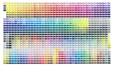 Print colours set by ten percent