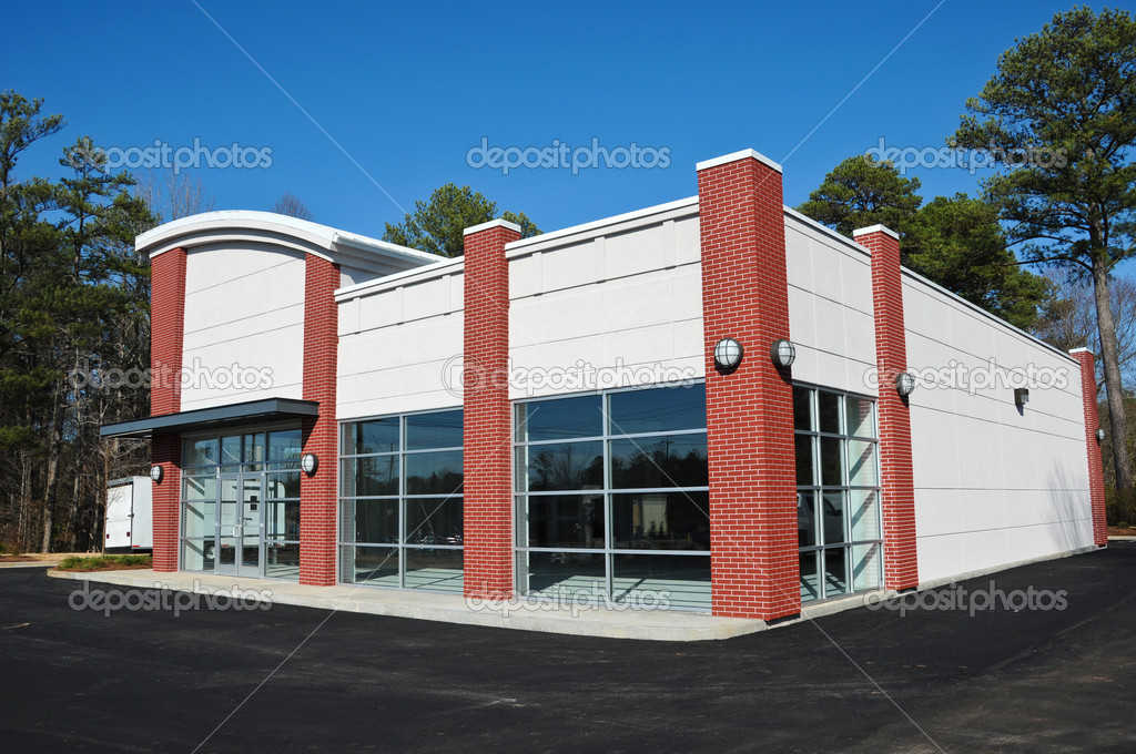 New modern commercial building stock photo eyemark for Business building plans designs