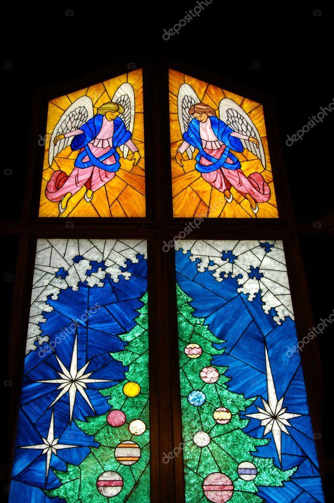 Glasmalerei-Weihnachtsbaum — Stockfoto © EyeMark #2602596