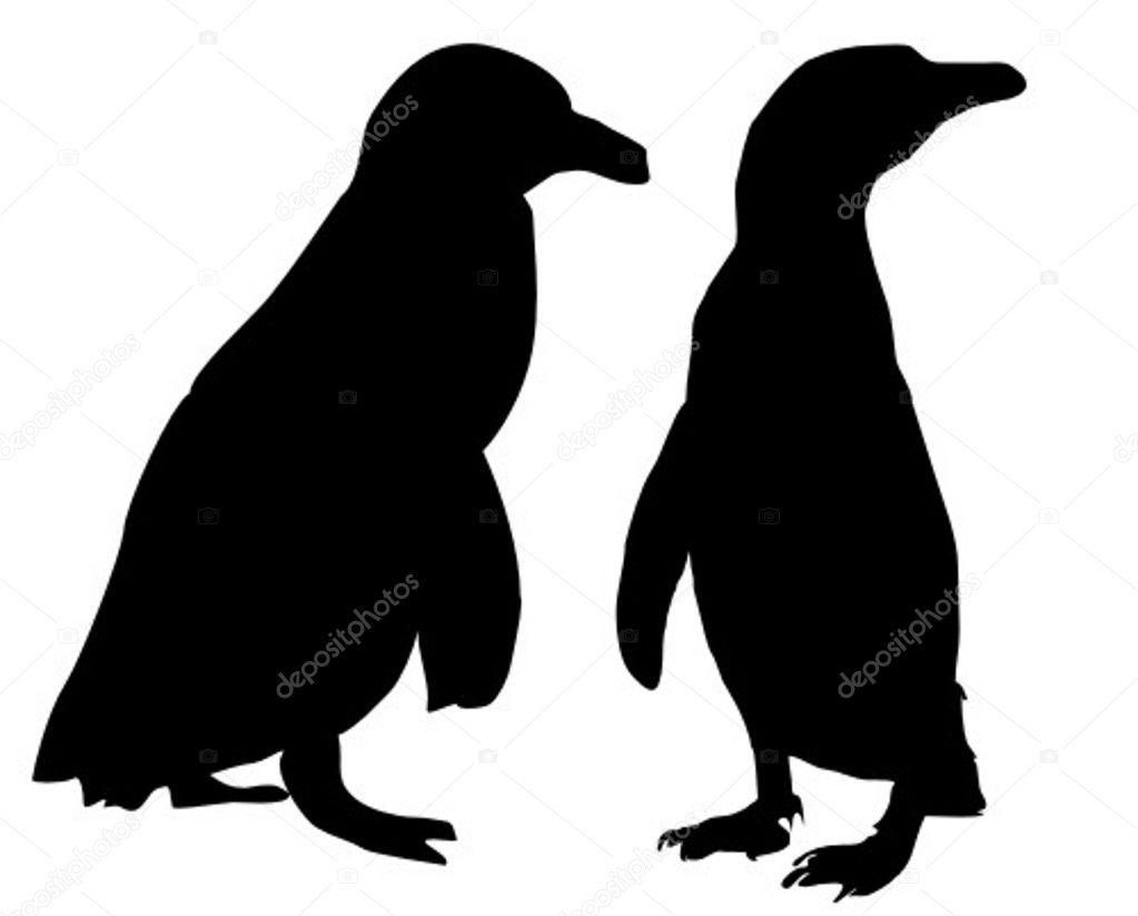 penguin - vector -silhouette — stock vector © klauskaulitzki #2626745