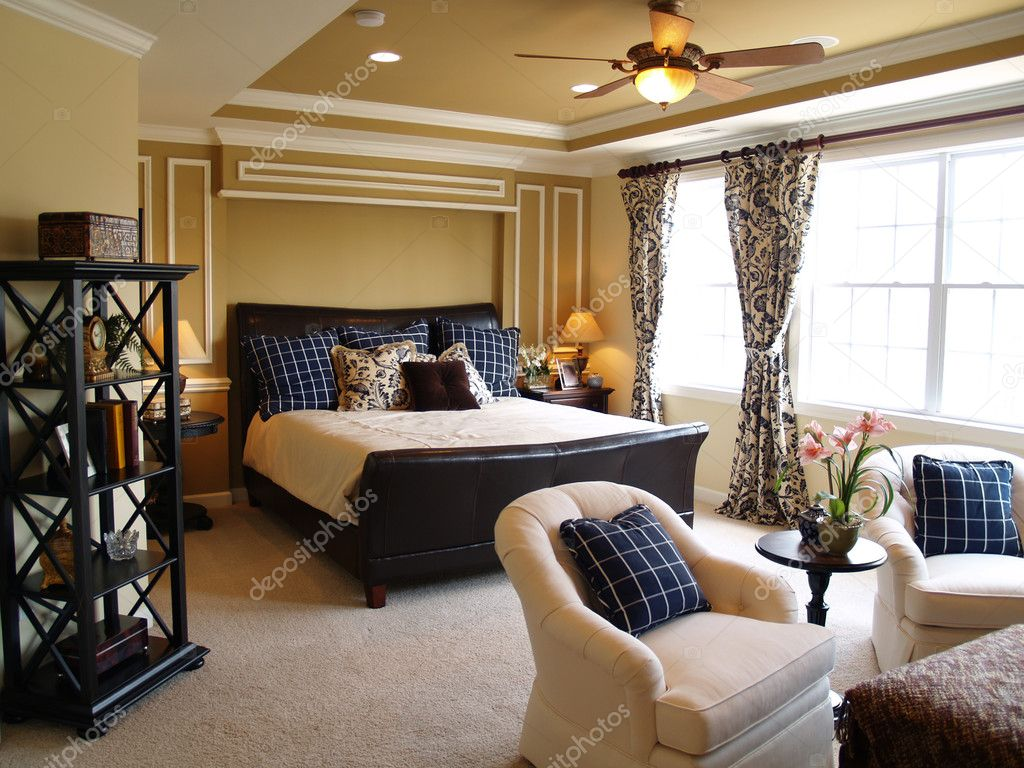 black and blue master bedroom — stock photo © digerati #2521570