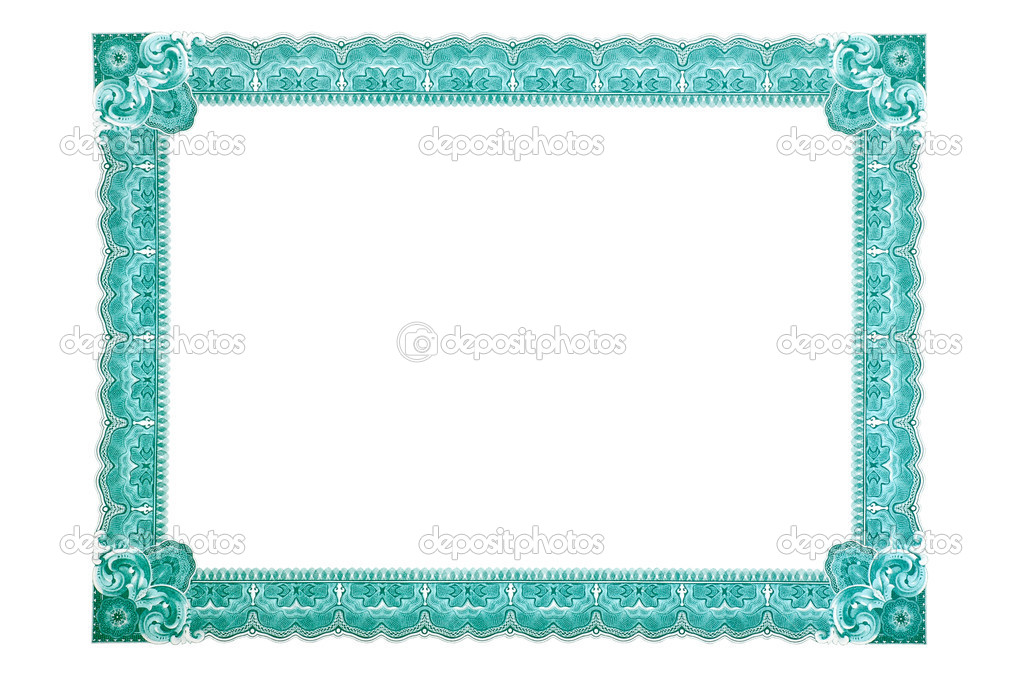 Certificate Frame Stock Photo Ra3rn 2571252
