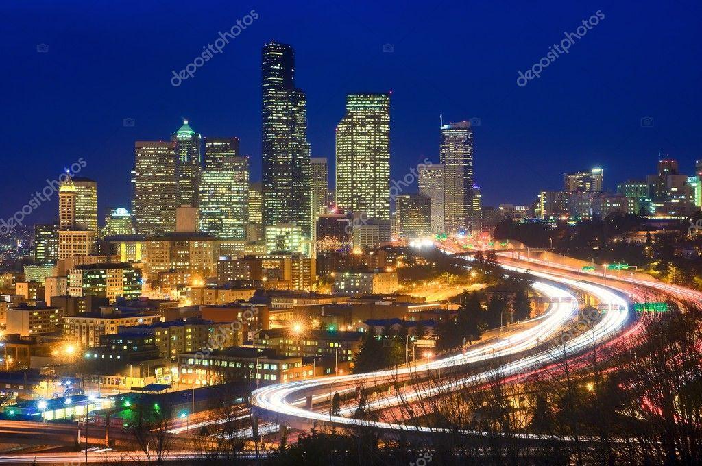 Interstate 5 through downtown Seattle