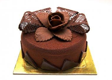 Chokolate cake with decorations