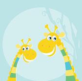 legrační džungle žluté žirafy