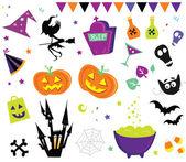 Fotografia Halloween vettoriale icone set iii