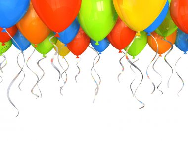 Party balloons background