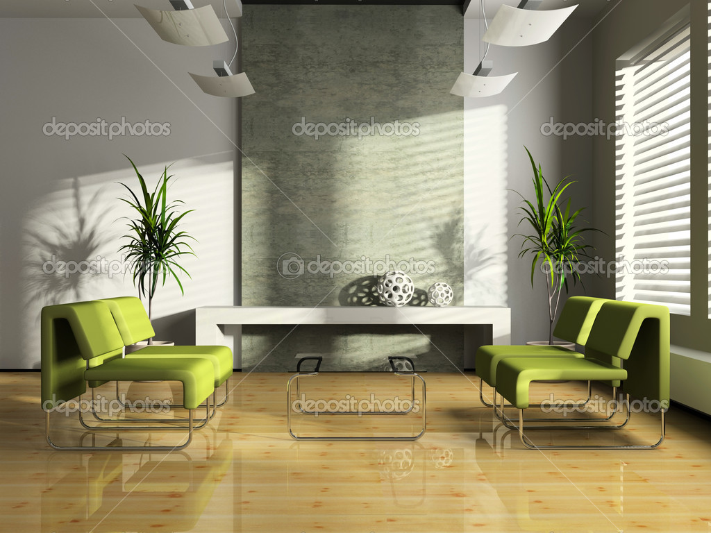interieur des modernen wartezimmer 3d — Stockfoto © hemul75 #2611695