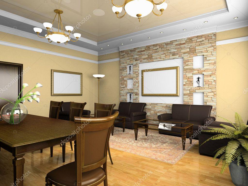 Interieur Klassieke Stijl : Kantoor interieur in klassieke stijl u stockfoto hemul