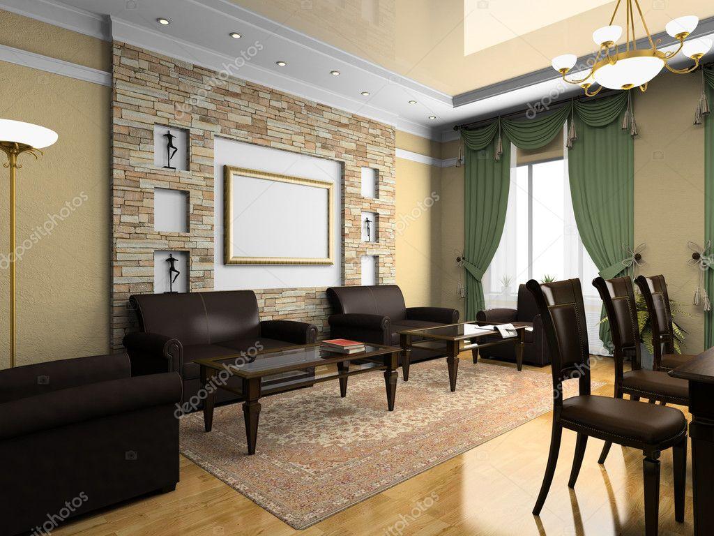 modernes Interieur im klassischen Stil — Stockfoto © hemul75 #2612409