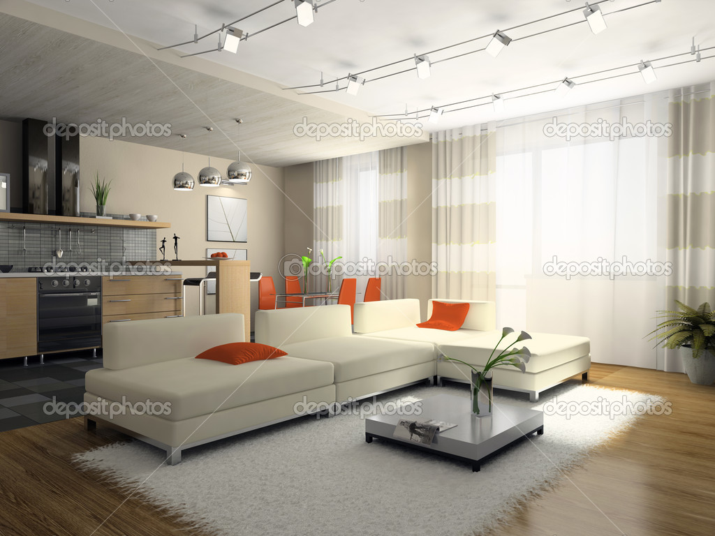 Interior of the stylish apartment