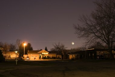 Neighborhood At Night