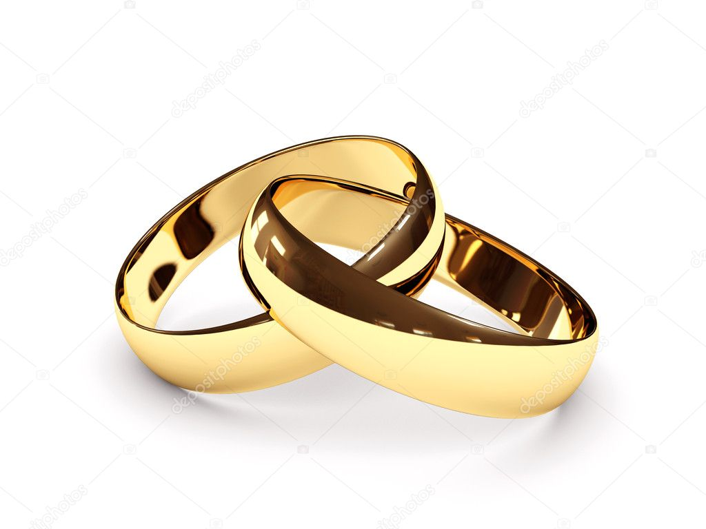 Connected wedding rings Stock Photo Geckly 2600265