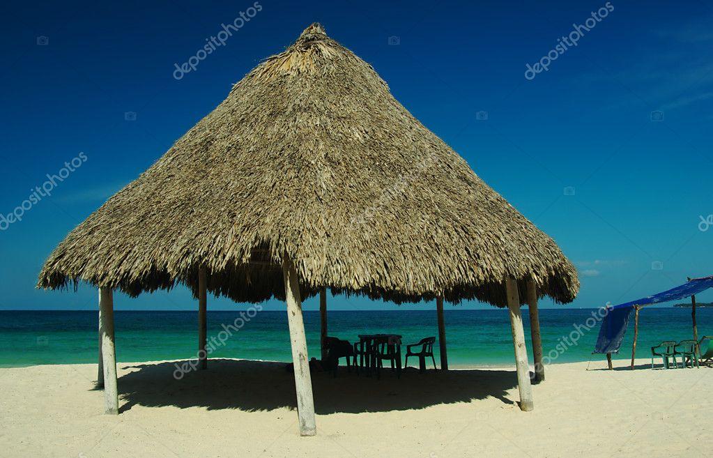Hut at Playa Blanca, Colombia
