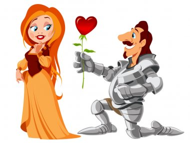 Declaration in love, with the day of saint of valentina, vector illustration clip art vector
