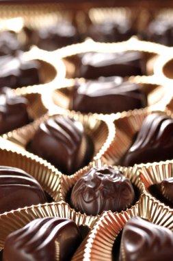 Gold foil box of chocolates