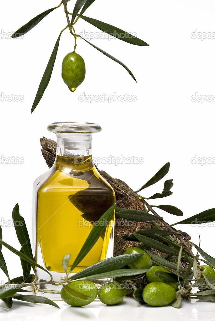 Olive oil dripping.