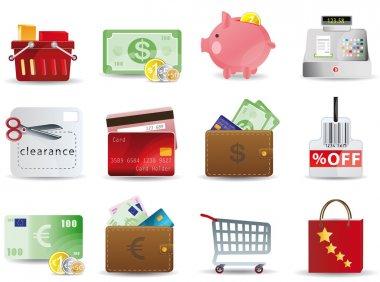 Shopping & Consumerism icons set