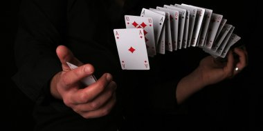 Playing card magik trick
