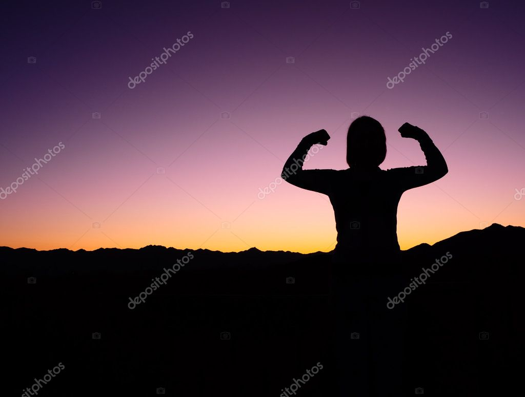 Female Strength Silhouette