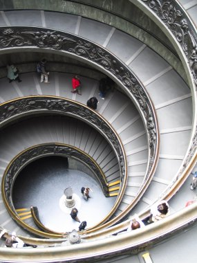 Rome, spiral stairs in the Vatican Museum