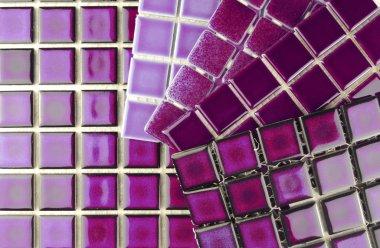 Ceramic tiles in aubergine colour