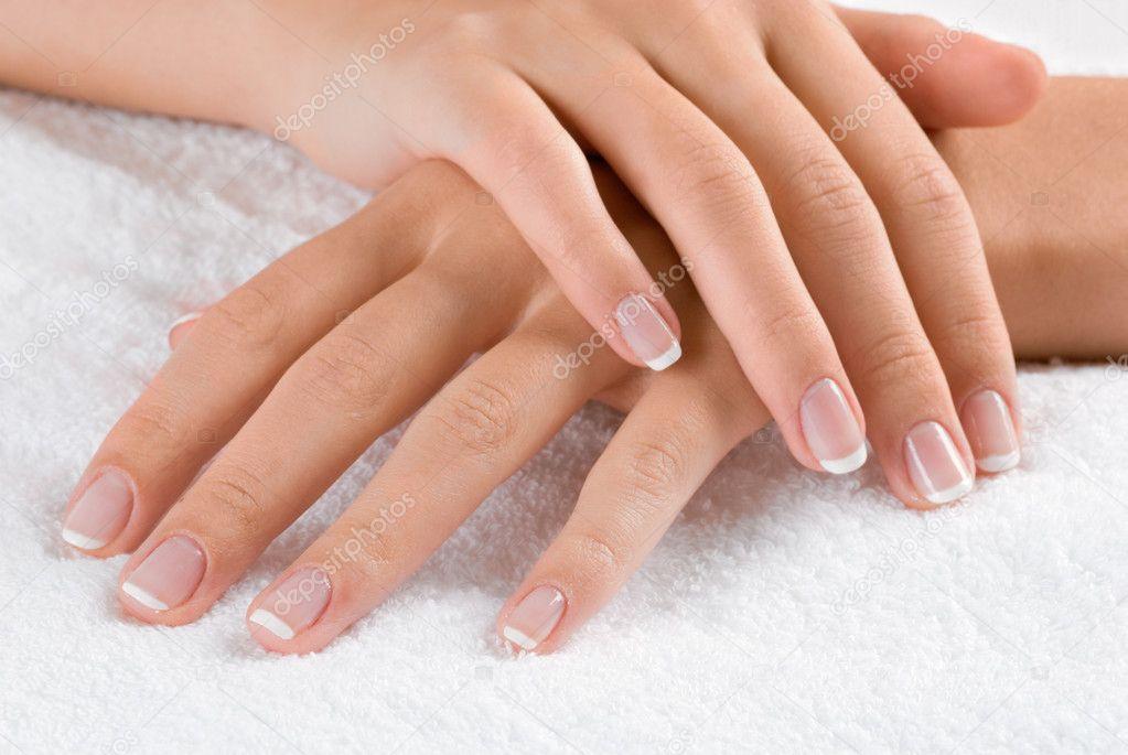 Hands on towel