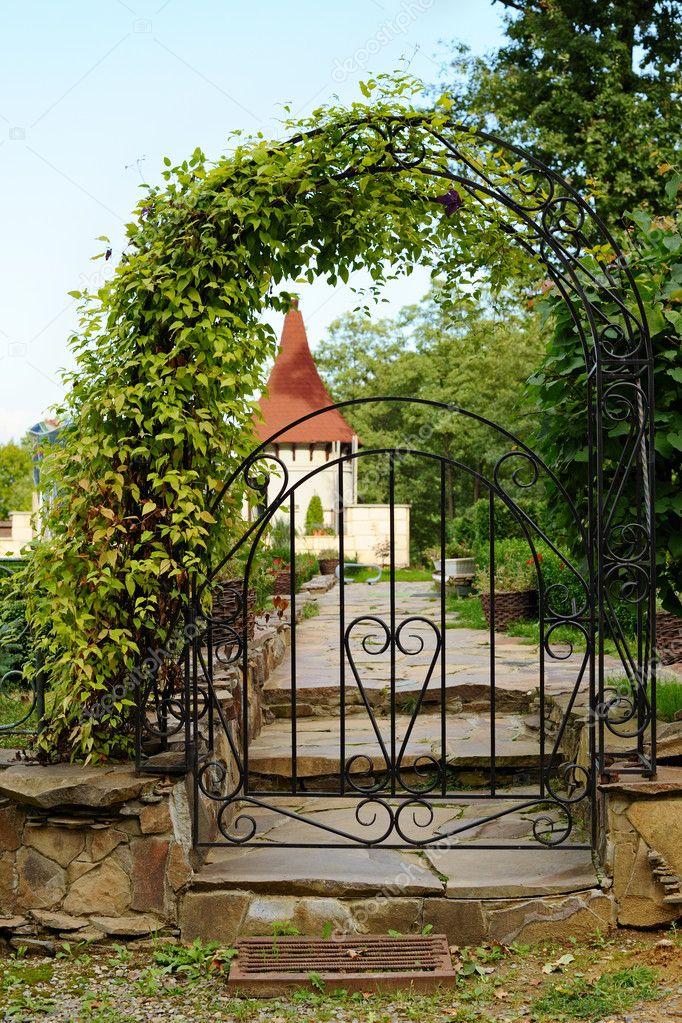 Arched iron gateway